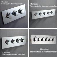 Luxo Alto Fluxo Temperatura Multi-Função Termostático Chuveiro Diverter Escondido Torneiras Misturador Válvula Controlador Banheiro Conjuntos