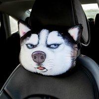 Ropa de perros Impreso 3D Papel de gato de bombeo de bombeo faceRuestro almohada y cinturones de seguridad Cubierta de cuello de reposo Cojín de seguridad auto Husky, Shiba en