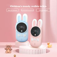 2pcs Set Childrens Walkie Talkie Kids Electronic Spy Gadgets Handheld Transceiver 3KM Range UHF Radio Interphone Toys For Boys
