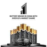 Nanfu Sin fugas AA 48 baterías de 48 baterías Ultra Power Premium LR6 Batería alcalina 1.5V para relojes Remotes Controladores de juegos Toys Electronic Dispositivo