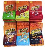 Mais novo personalizado 6 tipos cheetos batatas chip edibles sacos embalagem de queijo original Crunch de queijo flamin limão cheddar comestível zip bloqueio zip bloqueio mylar pacotes saco