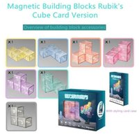 Fidget Toys Puzzle Magnetic Cube Magic blocks magnet 3x3 educational toy for children kids with Building block display card