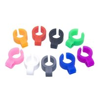 Silicone Smoking Cigarette holder Tobacco Joint Holder Ring regular size Smoking Tools accessories Gift For Man Women Pipes 8 color DDA5393