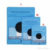 S M L 3 Размеры 28G 7G 3.5G Mylar Bags Blue Cookis Stipper Запаханный патонерный пакет пакет встать на сумки сухой травяная доказательство
