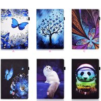 Print Leather Wallet Cases For Ipad Mini 6 1 2 3 4 5 11 2021 10.2 10.5 Air Air2 7 8 9 9.7 Pro Panda Cute Shockproof Butterfly Flower Animal Credit ID Card Slot Holder Flip Cover