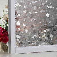 Window Stickers 3D Privacy Film Tulip Flower Frosted Glass Self-Adhesive Films Sticker Opaque Stained Bedroom Office Decor