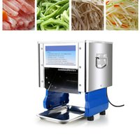 Cortador de carne Máquina de corte de molinillo comercial eléctrico de acero inoxidable de acero inoxidable carne de vaca vegetal de carne de vegetal máquina Dicing 220V