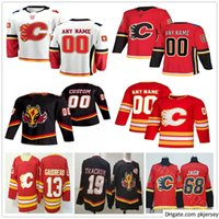 Custom Men Woman Kids Youth 2021 Reverse Retro Calgary Flames Dominik Simon Joakim Nordstrom Josh Leivo Juuso Valimaki Hockey Jerseys