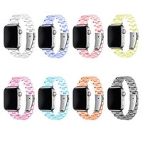 Transparent Resin Strap For Apple Watch Bands 44mm 42mm 40mm 38mm With Silver Buckle Adjustable Bracelet Iwatch Series 6 Se 5 4 3 Watchband