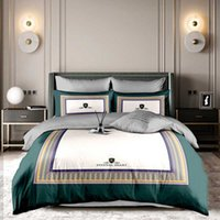 Bedding Supplies European Style Light Luxury Large Board Tribute Cotton Ab Four Piece Set of Live Broadcast Bedding with Goods in Student Dormitory