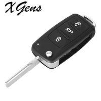 2021 3 Кнопка для VW Volkswagen Tiguan Golf Sagitar Polo MK6 FOR FOB Удаленный складной ключ Оболочка Неразрезанное лезвие