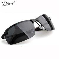 في الهواء الطلق نظارات mnft أزياء الرجال نصف إطار الصيد النظارات الشمسية الاستقطاب النظارات