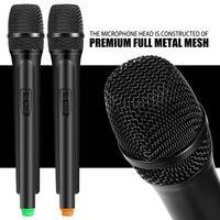 Microfoni dinamici wireless Dual Handheld + Sistema di ricevitore LCD per Karaoke che canta Plug