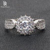 Küme Yüzükler Bague Ringen Klasik 925 Gümüş Yüzük Kadınlar Için Takı Charms Lover Nişan Lüks Tasarım Güzel Hediye Boyutu6-10