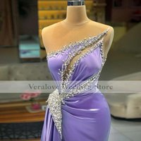 Luxury Satin Evening Dress Beads Appliques Ruffles Saudi Arabia Prom Gowns Vestido De Festa 2021 Celebrity Dresses
