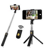 2021 multi-função K07 K07 sem fio Bluetooth Selfie Stick Dobrável Handheld Monopé Shutter Remoto Mini Tripé para telefone inteligente