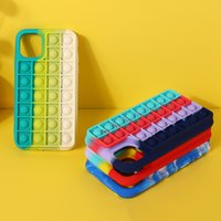 Push Pop it Fidget Rainbow Silicone Shockproof Phone Cases For iPhone 11 11pro 12 Pro Max Mini X XR XSMAX 8 7 6 6S Plus SE case