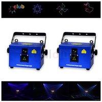 Эффекты 2 ШТ. 1 Вт RGB Анимационный Лазерный Световой Проектор 160 Эффект DJ Программируемые Огни / Освещение / Диско