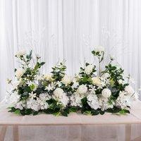 Decorative Flowers & Wreaths 50 100CM DIY Wedding Artificial Flower Row Decor Wall Arrangement Supplies Silk Peonies Rose Iron Arch Backdrop