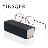 Cadre à la mode sur ordonnance Cadre pour femmes bleue Bleu Blocking Bureaux de lunettes de lunettes de lunettes de lunettes féminines inhabituelles