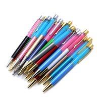 Shuolei مصنع الجملة المعادن شفاف القلم حامل قلم الفلورسنت متعدد الألوان المعادن القلم شخصية شعار مخصص