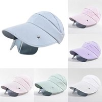 Cycling Caps & Masks Women's Open Top Sunshade Hat 2021 Summer Outdoor Fashion Cornice With Lens For Camping Travel Seaside Beach
