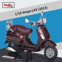 Maisto 118 Vespa LXV 2013 Roller Motorrad Legierung Motorrad Modell Auto Modell Diecasts Spielzeugfahrzeuge Sammeln Geschenke