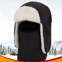 Winter Balaclava Beanie Hat Earflap Bomber Hats Caps Scarf Face Mask Bonnet Windproof Thick Warm Snow Ski Cycling & Masks