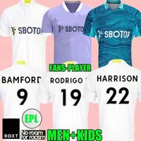Leeds 21 22 Futbol Formaları Hayranları Oyuncu Sürümü 2021 2022 Ev Firpo Junior Harrison Hernandez Costa Bamford Phillips Raphinha Erkekler Çocuk Kitleri Futbol Gömlek Birleşik