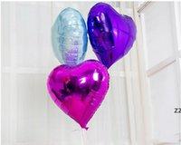 8 인치 하트 모양의 알루미늄 필름 풍선 사랑 복숭아 웨딩 파티 장식 어린이 장난감 HWB8628