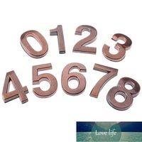 1 stücke Kunststoffbronze selbstklebende 0-9 Türnummern Angepasste Hausadresse Zeichen