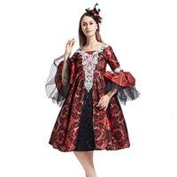 Lässige Kleider Halloween Erwachsene Weibliche Vampir-Kostüm Tanzen Mittelalterliches Gerichtskleid Gothic-Stil