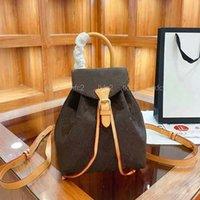 6 Stili Zaini di lusso classici Zaini Donne Designer String Zaino con fiori stampati Borsa sportiva per esterni
