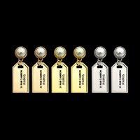 2021 никогда не исчезает титановые стальные модные шпильки серебряные розовые золотые серьги женские дизайнеры серьги жемчужные метки классические ювелирные изделия логотип напечатанные подарки партии