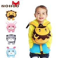 배낭 Nohoo 유아 아이들과 허리 가방 방수 사전 학교 가방 소년 소녀를위한 귀여운 3D 동물 아이들