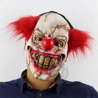 Halloween Ghost Latex Masque effrayant Latex Motif Batman Masque réaliste Costume Costume Masques Cosplay Props Props Fournitures de fête
