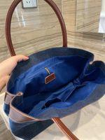 Mujeres lujosas diseñadores bolsas suave gran capacidad pestañas tote bolsa de compras maquillaje de bolso de moda con el logotipo Brang
