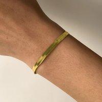Vintage Bakır Yılan Zincir Bilezik Kadınlar Kızlar Için Altın Renk Pürüzsüz Düz Bıçak Link Bilezik Bilezik Boho Charm El Takı