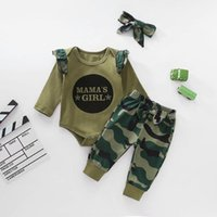 Clothing Sets 2021 Baby Cotton Boys Girls Clothes Suits Born 3pcs Long Sleeve Rompers+pants+cap Animal Striped
