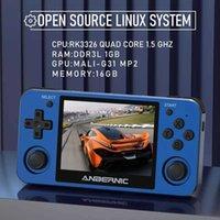 "Anbernic RG351MP RG350M Retro Oyun Konsolu PS1 Emulator Player Alüminyum Alaşım Kabuk 3.5 ""IPS Ekran El Taşınabilir Consola G0925"
