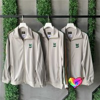 Needles Jackets Men Women Green Butterfly Embroidered Track Jacket High Street Inside Tag Outerwear Coats Awge