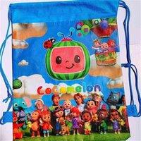 키즈 어깨 cocomelon 만화 Drawstring 가방 학생 학교 Tiktok 어린이 배낭 비치 쇼핑 여행 부직포 저장 가방 G576ozn