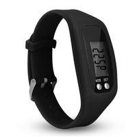 Yeni Silikon LED Çocuk İzle Dijital LCD Pedometre Run Step Yürüyüş Mesafe Kalori Sayacı Saatler Bilezik Saat