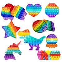 PUSH POP IT Fidget Toy Rainbow Bubble Sensory Autism Specal Need Needs Relefante Squeeze Sensory Toy for Kids Family
