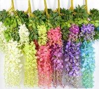 Favor 110cm silk flower artificial wisteria rattan, suitable for family garden party wedding decoration