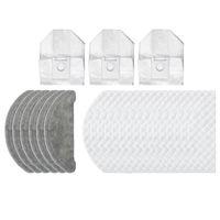 24pcs salviette monouso sacchetti di polvere di polvere riciclabili pezzi di panni accessori per Roidmi Eve Plus Robot Cleaner Sweeper Aspirapolvere