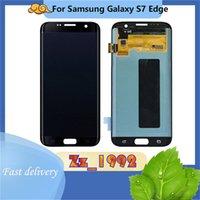 Cep Telefonu Dokunmatik Paneller Orijinal Samsung Galaxy S7 Kenar LCD Ekran Ekran Digitizer Meclisi G935F G935A G935P G935 G935V G935T