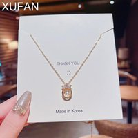 Pendant Necklaces XUFAN Fashion Personality Simple Necklace Designer Crown Selling Gold Color For Women Girl Gift