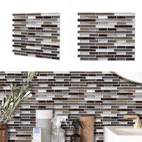 Duvar Kağıtları Modern 3D Duvar Sticker Mozaik Seramik Çini Su Geçirmez Duvar Kağıdı Ev DIY Çıkartmalar Antifouling Mutfak