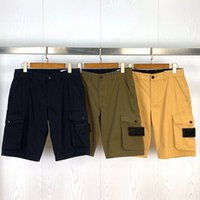 TOPStely 21SS Fashion Hombre Shorts Side Label Pockets Lavé Combinaison Casual Shorts Casual Designers Courtes Casual Street Short